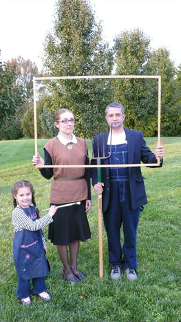 Our Halloween Costume The Minto Version Of Famous Painting American Gothic By Grant Wood
